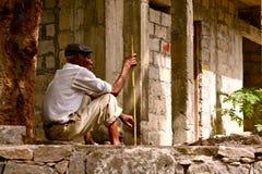 Cape Verdean old man Stock Image