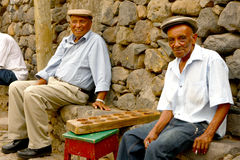 Cape Verdean old men Royalty Free Stock Photography