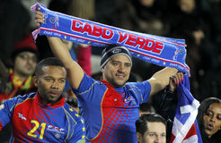 Cape Verdean supporters celebrating goal Royalty Free Stock Photo