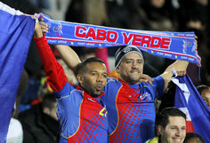 Cape Verdean supporters celebrating goal Stock Photo