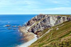 Cape Vidio coastline (Asturian coast, Spain). Stock Image