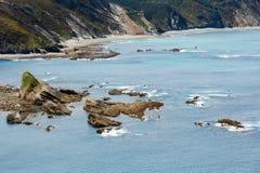 Cape Vidio coastline (Asturian coast, Spain). Stock Photos