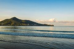 Cape view in Phuket from Kamala beach. In Amazing Thailand Stock Photos