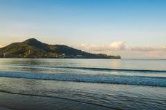 Cape view in Phuket from Kamala beach Stock Photos