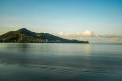 Cape view in Phuket from Kamala beach in Thailand Royalty Free Stock Photography