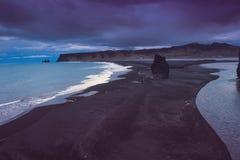 Cape Vik Iceland, nature background Atlantic ocean Stock Photo