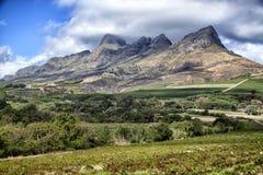Cape Winelands Mountain  Landscape. Cape Winelands Mountain Landscape overlooking a wine farm Stock Photo