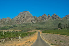 Cape Winelands. The Cape Winelands region is the premier wine producing area of South Africa Stock Images