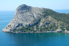 Cape2. Cape Hoba-Kaya, Crimea in Ukraine. Summer 2009 Royalty Free Stock Photo