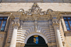 Capece palace. Maglie. Puglia. Italy. Royalty Free Stock Image