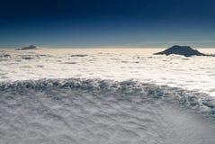 caped снежок пика горы Стоковое фото RF