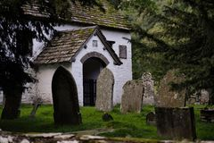 Capel y ffin, hay bluff, wales, uk. Capel y ffin, the ancient little church on hay bluff, wales, uk Stock Photo
