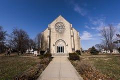 Capela abandonada da faculdade - Ohio fotos de stock