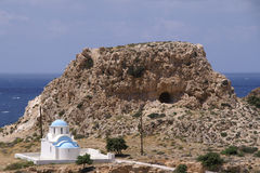 Capela branca grega Fotos de Stock