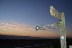 Capela bridleway de Holme do Pennine Fotos de Stock