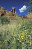 Capela católica transversal santamente, inspirada por Frank L Wright em Sedona o Arizona Fotografia de Stock Royalty Free