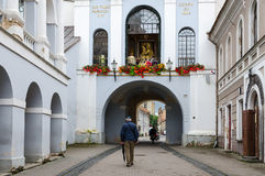 Capela com nossa senhora da porta do alvorecer na porta santamente (porta do alvorecer) Foto de Stock