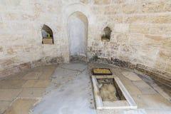 Capela da ascensão de Jesus Christ no Monte das Oliveiras no Jerusalém, Israel fotografia de stock royalty free