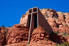 A capela da cruz santamente, Sedona, o Arizona Imagens de Stock