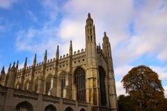 Capela da faculdade dos reis, céu azul Imagens de Stock Royalty Free