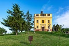 Capela da paz onde o Tratado de Karlowitz foi negociado em Sremski Karlovci Aquele era si fotos de stock