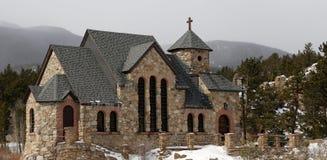 Capela das montanhas rochosas Fotografia de Stock Royalty Free