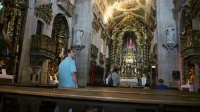 Capela de Санта-Катарина при люди моля и туристские идя акции видеоматериалы