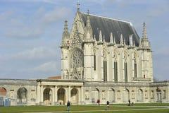 Capela de Château de Vincennes perto de Paris, França imagem de stock royalty free