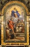 Capela de Cybo, Santa Maria del Popolo Church roma Italy imagem de stock royalty free