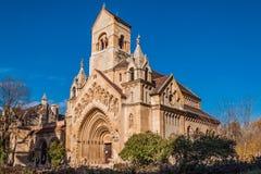 A capela de Jak no castelo de Vajdahunyad é um chuch católico de funcionamento, situado em Budapest Imagem de Stock Royalty Free