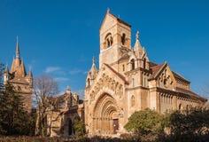 A capela de Jak no castelo de Vajdahunyad é um chuch católico de funcionamento, situado em Budapest Foto de Stock Royalty Free