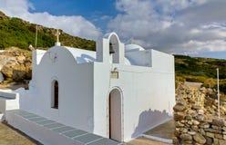 Capela de Kipou do tou de Panagia, Milos console, Greece Foto de Stock