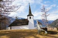 Capela de Klaunzer no país das montanhas, Matrei em Osttirol, Áustria Foto de Stock Royalty Free
