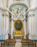 Capela de Lancellotti por Giovanni Antonio de Rossi, na basílica de Saint John Lateran em Roma fotos de stock royalty free
