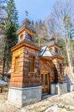 Capela de madeira do russo no Vrsic Passagem-Eslovênia Imagem de Stock
