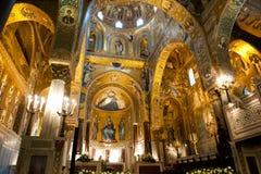 Capela de Palatine - Palermo, Sicília Imagens de Stock Royalty Free