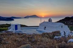 Capela de Panagia Tourliani, Milos Foto de Stock Royalty Free