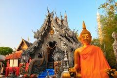 Capela de prata do ` s primeiro de Wat Srisuphan World fotos de stock