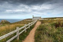 Capela de Saint eles, Pointe du Van (França) Imagens de Stock