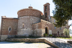 Capela de San Galgano em Montesiepi, Toscânia. Imagens de Stock Royalty Free