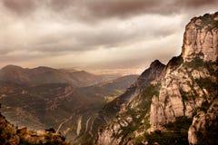 Capela de Santa Cora do monastério Montserrat de Madonna do preto da caverna Fotos de Stock Royalty Free