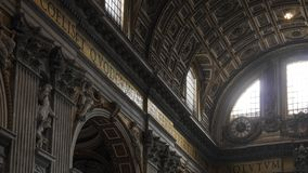 A capela de Sistine, Vaticano fotografia de stock royalty free