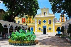 Capela de St Francis Xavier, Macau, China imagens de stock royalty free