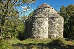 Capela de Sveti Krsvan, Glavotok, Croácia imagem de stock