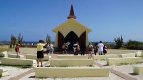 Capela de Vista do alto em Aruba Fotografia de Stock Royalty Free
