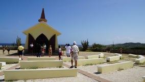 Capela de Vista do alto em Aruba Fotografia de Stock