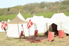 Capela do campo no acampamento histórico Fotos de Stock Royalty Free