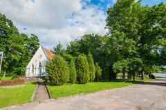 Capela do casamento, capela na natureza, capela pequena fotografia de stock
