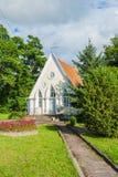Capela do casamento, capela na natureza, capela pequena imagem de stock