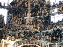Capela do Monte das Oliveiras com um crucifixo e um calv?rio na bas?lica de St Urlich ou dado Oelbergkapelle Olbergkapelle foto de stock